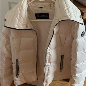 Guess White Women's Winter Jacket